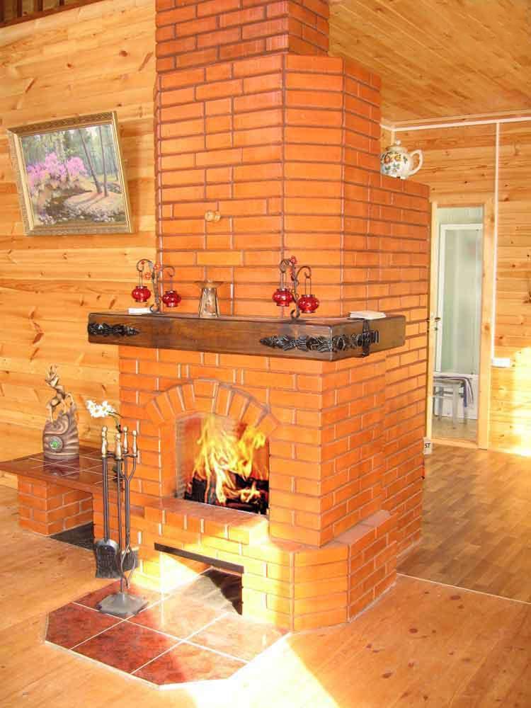 Русская печь с камином для дома своими руками