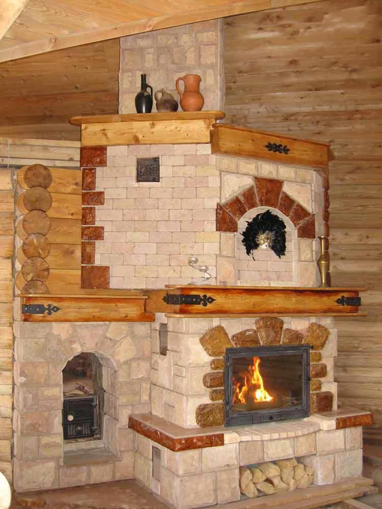 Дизайн печей каминов в доме